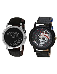 Relish Black Analog Round Casual Wear Watches For Men - B019T7LATY
