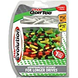"""Pride Golf Tee Evolution Combo Pack (50 Count: 40 2-3/4"""" & 10 1-1/2"""")"""