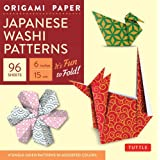 "Origami Paper - Japanese Washi Patterns - 6"" - 96 Sheets: It's Fun To Fold! (Tuttle Origami Paper)"