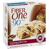 Fiber One 90 Calorie Cinnamon Coffee Cake , 5.34 OZ (Pack Of 12)