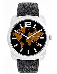 Swisstone GR0018-BLACK Black Dial Black Strap Analog Wrist Watch For Men/Boys