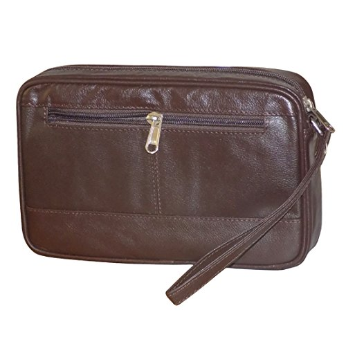 Style98 100% Leather Unisex Multi Purpose Toiletry Bag||Toiletry Kit||Toiletry Pouch||Handbag||Travel Toiletry... - B06ZYBNHQC