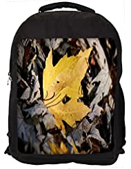 """Snoogg Yellow Leaves In Dry Leaves Casual Laptop Backpak Fits All 15 - 15.6"""" Inch Laptops"""