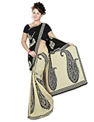 Anand Sarees Faux Georgette Self Print Saree