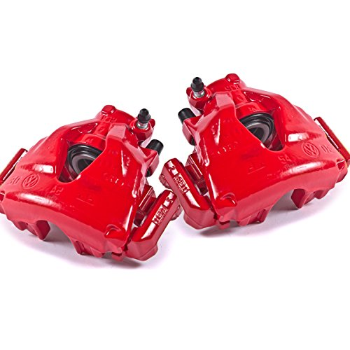Callahan CK00400 [ 2 ] FRONT Performance Grade Red Powder Coated Semi-Loaded Caliper Assembly Pair Set – Remanufactured