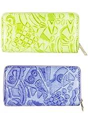 FAE Women's Wallet Multi Colour Set Of 2 By JDK NOVELTY - (Set2BGW3857)