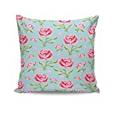 PosterGuy Peony Blue Chic Flower, Floral, Chic, Decor, Bedroom, Fabric, Design, Modern, Cool, Contemporary Cushion...