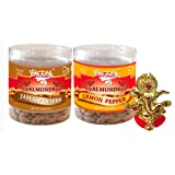 Chocholik Dry Fruits - Almonds Jamaican Jerk & Lemon Pepper With Ganesha Idol - Diwali Gifts - 2 Combo Pack
