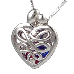 Loving Family® Sterling Mothers Heart Gift Locket with Set of 12 Birthstones - Small