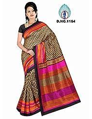 Winza Women's Art Silk Saree (Exclusive Ethnic Desi Art Silk Cotton Bolly Fancy Sarees For Women 1164_Multicolor)