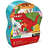 "Crocodile Creek Floor Puzzle 72 Large Piece Kid S Puzzle (14"" X 19"") With Storage Box Dinosaurs"