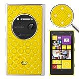 Crazy4Gadget Luxury Bling Diamond Plating Skinning Plastic Case For Nokia Lumia 1020 (Yellow)