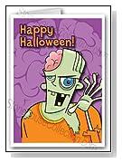 Frankenstien Halloween Card