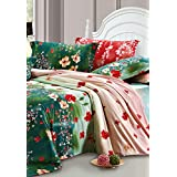 Bianca Bordelle Bordelle Cotton Double Bedsheet With 2 Pillow Covers - King Size, Dark Green (BED393)