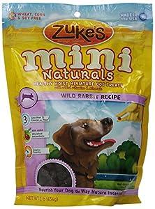 Amazon.com : Zuke's Mini Naturals Dog Treats, Wild Rabbit