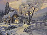 Ceaco 3310-41 Thomas Kinkade - Winter Evening Gathering Puzzle - 1000 Piece