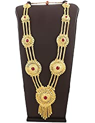 Anuradha Art This Golden Finish Adorable Necklace Pink Colour Stones Necklace For Ganesh Murti