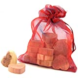 Hangerworld Pack of 20 Moth Repellent Cedar Wood Hearts with Odour Protection