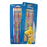 Disney Princess Tinkerbell Tinker Bell Pencil Set : 12 Pcs