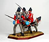1-TH BRITISH FOOT GUARDS AT WATERLOO 1815. Metal Sculpture. Collection 54mm (Scale 1/32) Miniature Figurine. Tin Toy Soldiers.