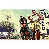 GTA - Grand Theft Auto V (E) Game Poster - 12x19 Inch Art Material