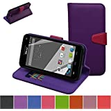BLU Studio 5.0 C HD Case,Mama Mouth [Stand View] Folio Flip Premium PU Leather [Wallet Case] With Built-in Media...