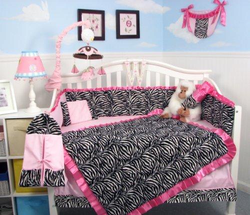 Zebra Print Crib Bedding
