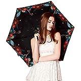 Black : Super Sunscreen Anti-UV Sun Umbrella Folding Sunny Umbrellas
