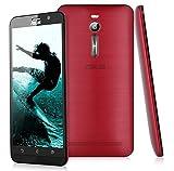 "Asus Zenfone 2 Lte 4G - 5.5"" Smartphone Libre Android (Fhd 1080x1920P, 64 Bit Quad Core, 2G Ram, 16G Rom, Dual Sim, 13Mp, Smart Wake Multi-Idioma), Rojo"