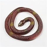 Poplay Rubber Lifelike Snakes Scary Gag Gift Funny Prank Joke Toy Kid Child,Green