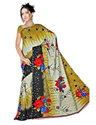 Anand Sarees Faux Georgette Self Print Saree - B013SYSHCC