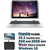 2017 HP Newest X2 Detachable 2 In 1 10.1 Inch HD Touchscreen Flagship High Performance Laptop PC, Intel Atom X5...