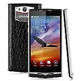 Uhans U100 Lte 4G - Smartphone Libre Android (4.7'' Ips 1280x720P, Dual Sim, 16Gb Rom, 2Gb Ram, Cámara 8MP, Multi-Idioma, GPS Bluetooth Videollamada), Negro