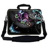 Meffort Inc 17 17.3 Inch Neoprene Laptop Bag Sleeve With Extra Side Pocket Soft Carrying Handle & Removable Shoulder... - B00B408K16