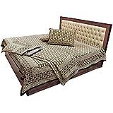 Ethnic Treat Latest Jaipuri Pure Cotton Double Bedsheets N Duvet Combo