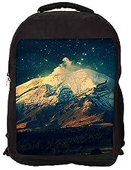 Snoogg Night In The Everest Backpack Rucksack School Travel Unisex Casual Canvas Bag Bookbag Satchel