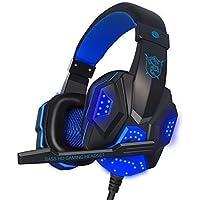 Bluespider Pc Gaming Headset With Mic LED Surround Stereo Bass Headband Headphone USB 3.5mm