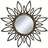 """Urban Designs Sunburst Flare 34"""" Round Metal Wall Mirror"""