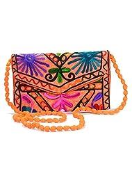 Arisha Kreation Co Women Hand Bag (Orange)