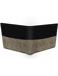 Urban Monk Black Gold Genuine Leather Black Wallet