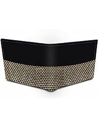 Ownclique Black Gold Genuine Leather Black Wallet