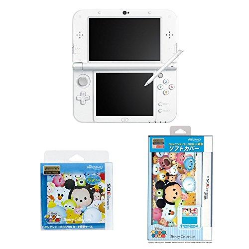 【Amazon.co.jp限定】 Newニンテンドー3DS LL パールホワイト ディズニーツムツムセット(ソフトカバー&カードポケット8)