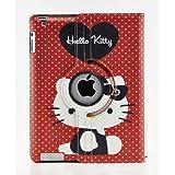 Hello Kitty Design 360 Degree Rotating PU Leather Hard Case For Apple IPad 4 3 2 Mini 2 With Retina And IPad Air... - B00GQOJ9OC
