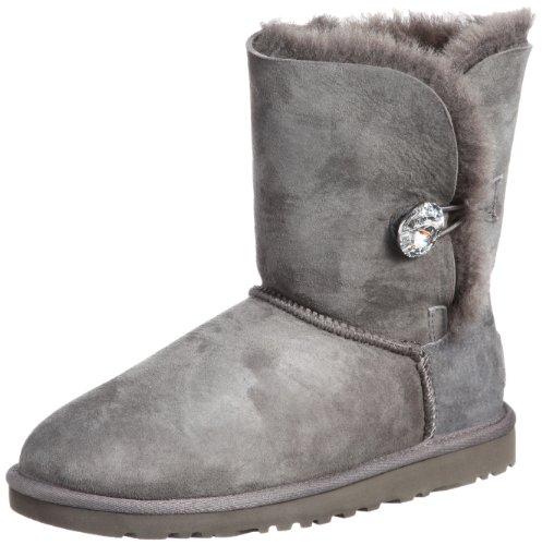 Ugg Bailey Button Bling - Botas para mujer, color gris (grey), talla 37