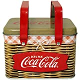 The Tin Box Company Coke Replica Picnic Basket With Handle And Lid Toy
