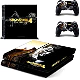Hytech Plus Uncharted 4 Golden Theme Skin Sticker Cover For PS4 Console And Controllers