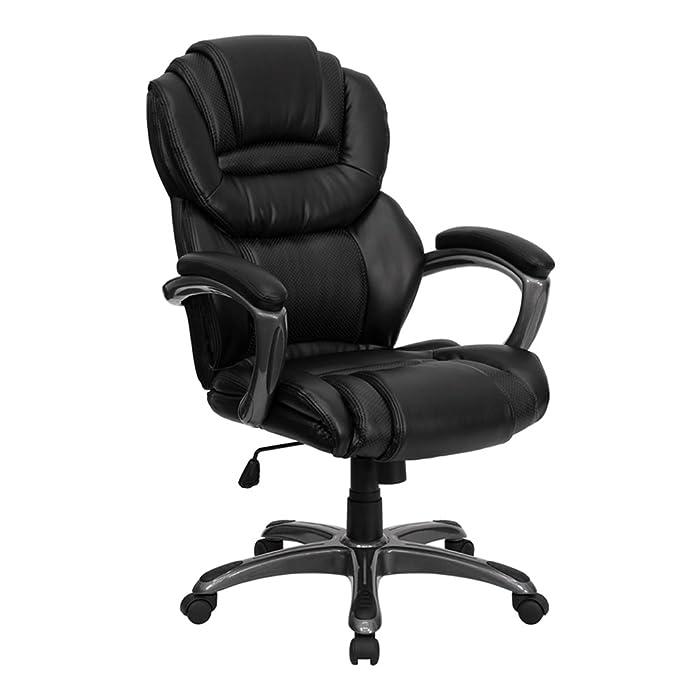 Black Leather Executive Office Chair – GO-901-BK-GG