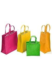 "WMM Craft Classic Jute Tote/Jute Best Combo Jute Gift Bag,Set Of 4,12""x12""x5.5"" - B01AOMHTDE"