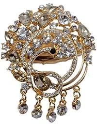 Mansiyaorange Traditional Indo Western Designer Fancy Wedding Party Wear Golden Brooch /Broach/SareePin/SariPin... - B01MDPXTB3