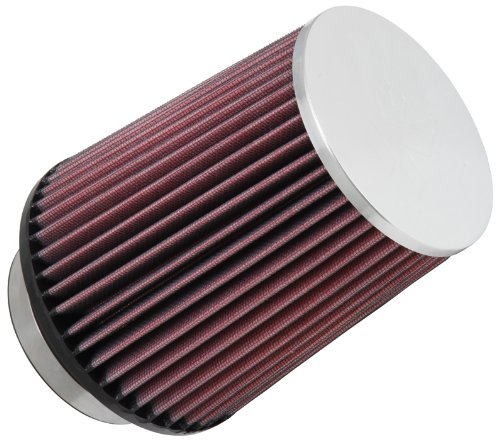 K&N RC-4630 High Performance Universal Clamp-on Chrome Air Filter
